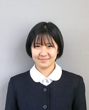 竹田 知華(3年生 西条市立東予東中学校卒)