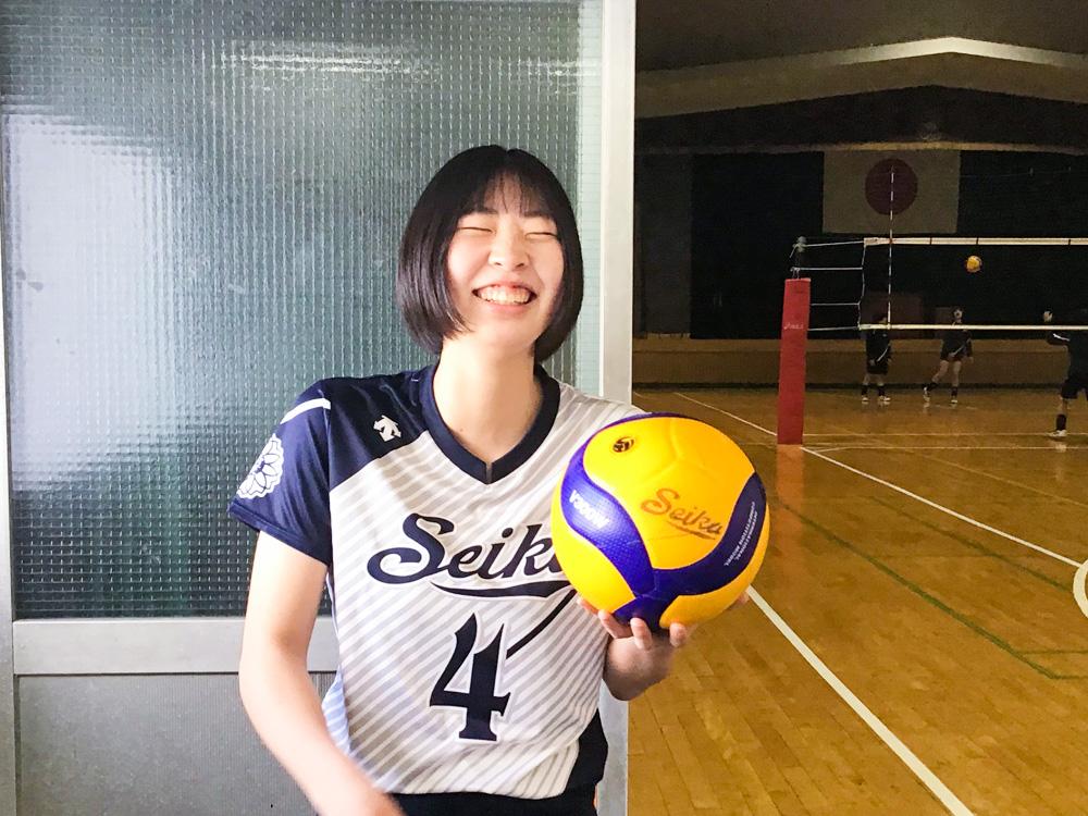 女子バレーボール部|宇野 綾夏(2年生 今治市立西中学校)